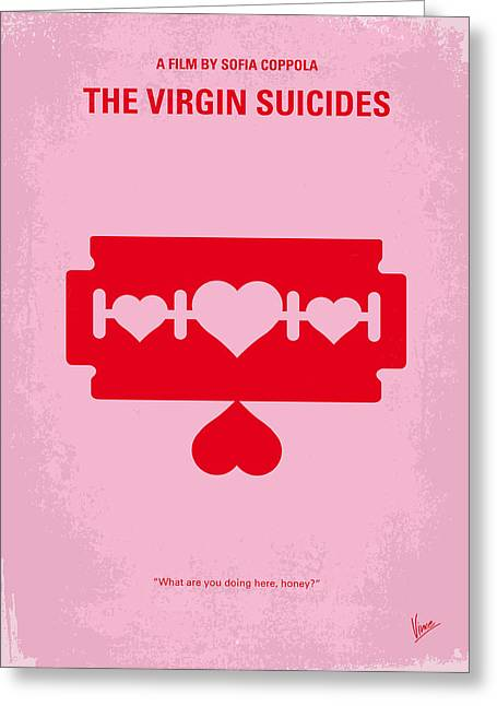Suicide Greeting Cards - No297 My The Virgin Suicides minimal movie poster Greeting Card by Chungkong Art