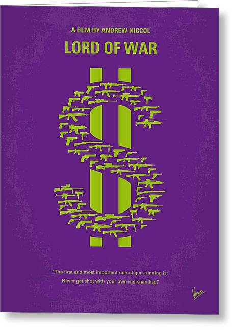 Classic Hollywood Greeting Cards - No281 My LORD OF WAR minimal movie poster Greeting Card by Chungkong Art