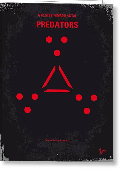 Syfy Greeting Cards - No289 My PREDATORS minimal movie poster Greeting Card by Chungkong Art