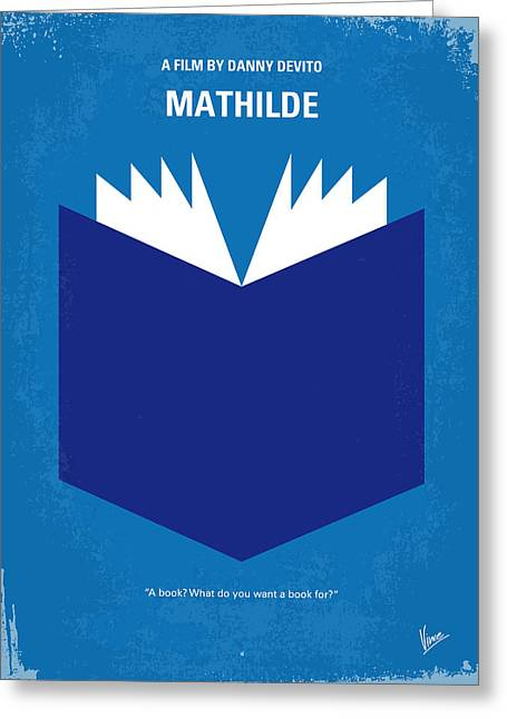 Genius Greeting Cards - No291 My MATHILDE minimal movie poster Greeting Card by Chungkong Art