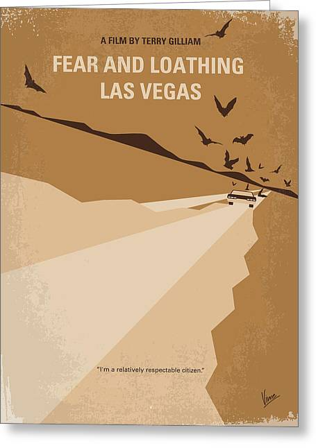 Johnny Depp Poster Greeting Cards - No293 My Fear and loathing Las vegas minimal movie poster Greeting Card by Chungkong Art