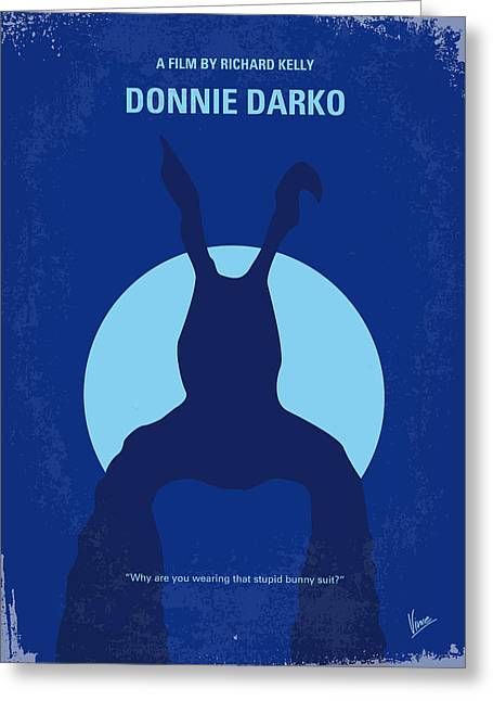 Crashing Greeting Cards - No295 My Donnie Darko minimal movie poster Greeting Card by Chungkong Art
