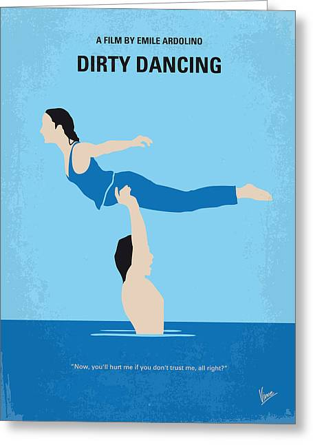 Classic Hollywood Greeting Cards - No298 My Dirty Dancing minimal movie poster Greeting Card by Chungkong Art