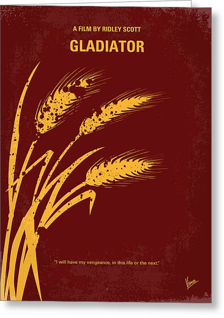 Art Roman Greeting Cards - No300 My GLADIATOR minimal movie poster Greeting Card by Chungkong Art