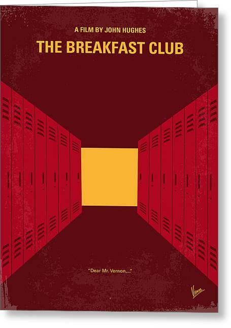 Breakfast Digital Art Greeting Cards - No309 My The Breakfast Club minimal movie poster Greeting Card by Chungkong Art
