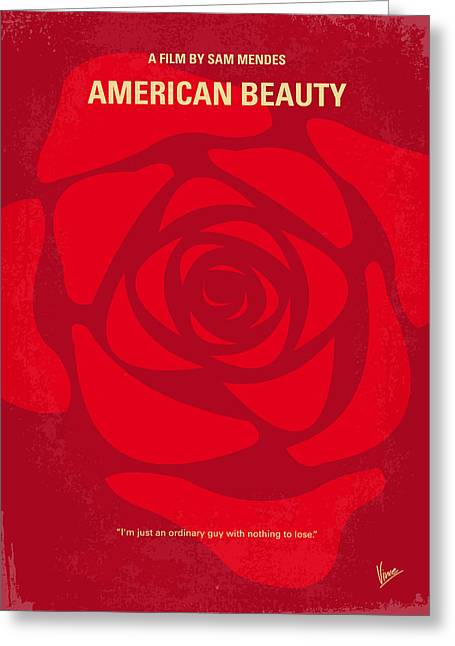 American Film Greeting Cards - No313 My American Beauty minimal movie poster Greeting Card by Chungkong Art