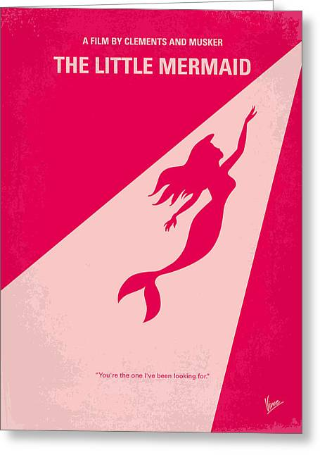 Extinct And Mythical Digital Art Greeting Cards - No314 My Mermaid minimal movie poster Greeting Card by Chungkong Art