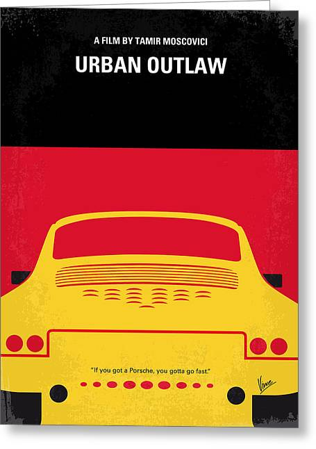 Original Greeting Cards - No316 My URBAN OUTLAW minimal movie poster Greeting Card by Chungkong Art