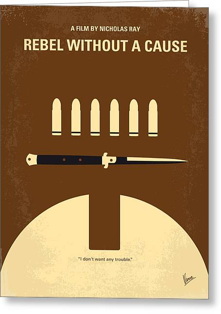 Observatory Greeting Cards - No318 My Rebel without a cause minimal movie poster Greeting Card by Chungkong Art