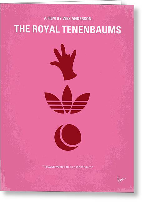 Genius Greeting Cards - No320 My The Royal Tenenbaums minimal movie poster Greeting Card by Chungkong Art