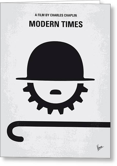 Industrial Icon Digital Art Greeting Cards - No325 My MODERN TIMES minimal movie poster Greeting Card by Chungkong Art