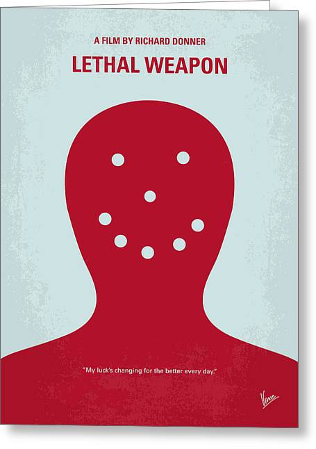 No327 My Lethal Weapon Minimal Movie Poster Greeting Card by Chungkong Art