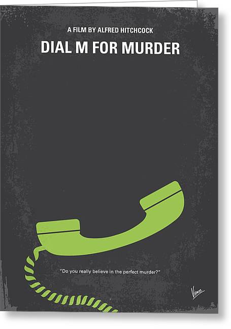 Him Greeting Cards - No328 My Dial M for Murder minimal movie poster Greeting Card by Chungkong Art