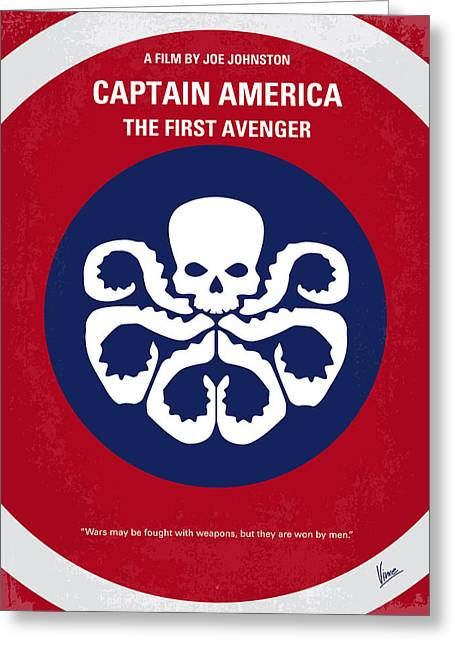 Captain America Greeting Cards - No329 My CAPTAIN AMERICA - 1 minimal movie poster Greeting Card by Chungkong Art