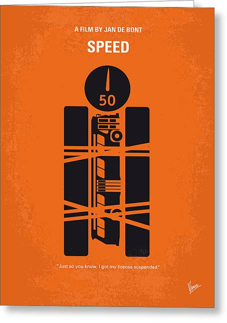 Speed Greeting Cards - No330 My SPEED minimal movie poster Greeting Card by Chungkong Art