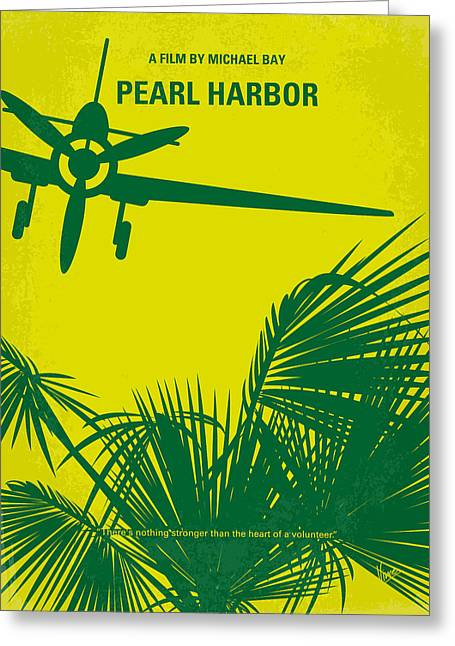 Style Greeting Cards - No335 My PEARL HARBOR minimal movie poster Greeting Card by Chungkong Art