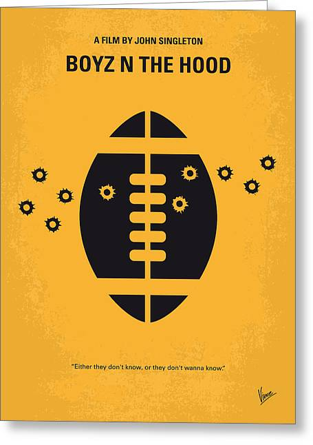 Singleton Greeting Cards - No352 My Boyz N The Hood minimal movie poster Greeting Card by Chungkong Art