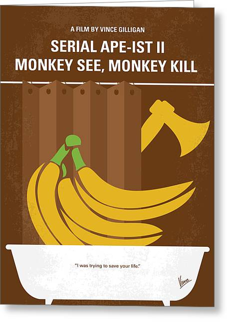 No356 My Serial Ape-ist Minimal Movie Poster Greeting Card by Chungkong Art