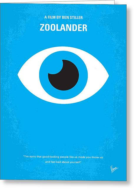 Fashion Digital Art Greeting Cards - No359 My Zoolander minimal movie poster Greeting Card by Chungkong Art