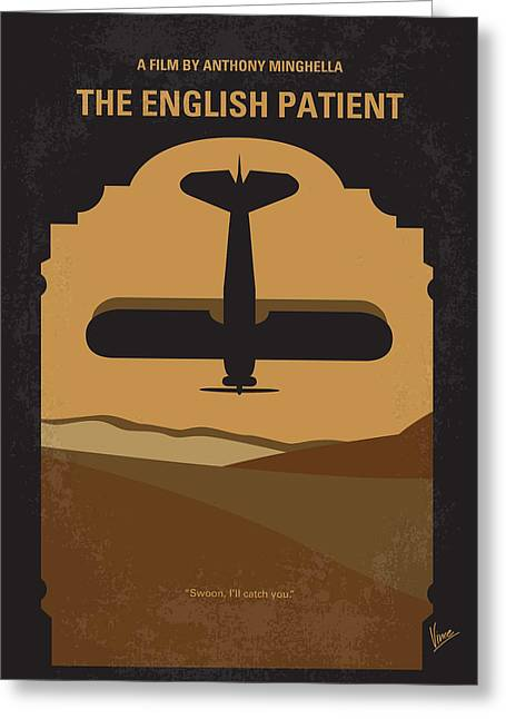 Crashing Greeting Cards - No361 My The English Patient minimal movie poster Greeting Card by Chungkong Art