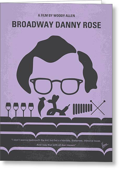 Woodies Greeting Cards - No363 My Broadway Danny Rose minimal movie poster Greeting Card by Chungkong Art