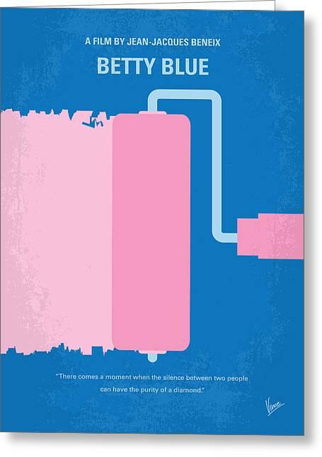 Matin Greeting Cards - No365 My Betty Blue minimal movie poster Greeting Card by Chungkong Art