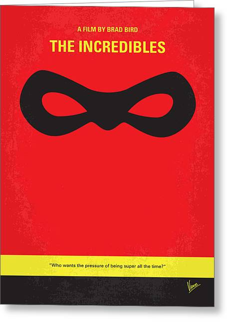 Dash Greeting Cards - No373 My Incredibles minimal movie poster Greeting Card by Chungkong Art