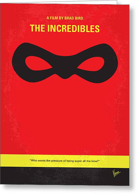 No368 My Incredibles Minimal Movie Poster Greeting Card by Chungkong Art