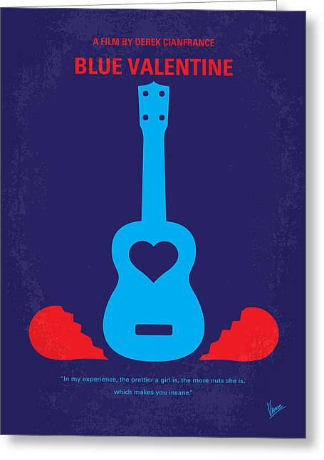Valentine Gift Ideas Greeting Cards - No374 My Blue Valentine minimal movie poster Greeting Card by Chungkong Art