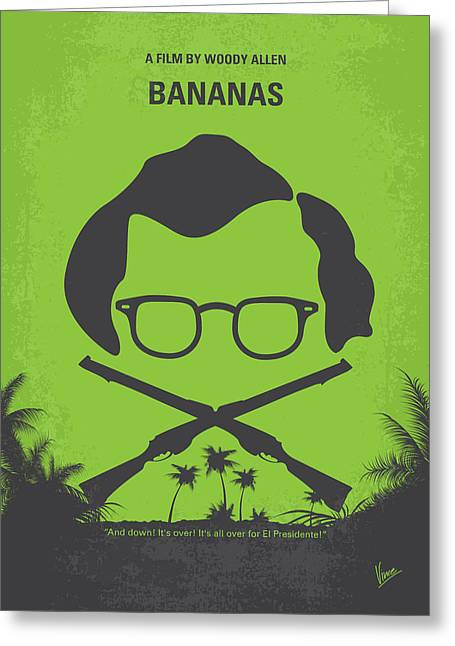 Woody Allen Greeting Cards - No375 My Bananas minimal movie poster Greeting Card by Chungkong Art