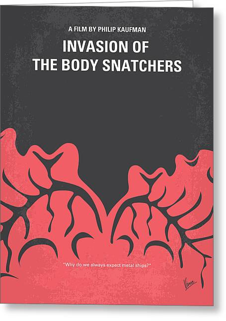Invasion Greeting Cards - No378 My Invasion of the Body Snatchers minimal movie Greeting Card by Chungkong Art