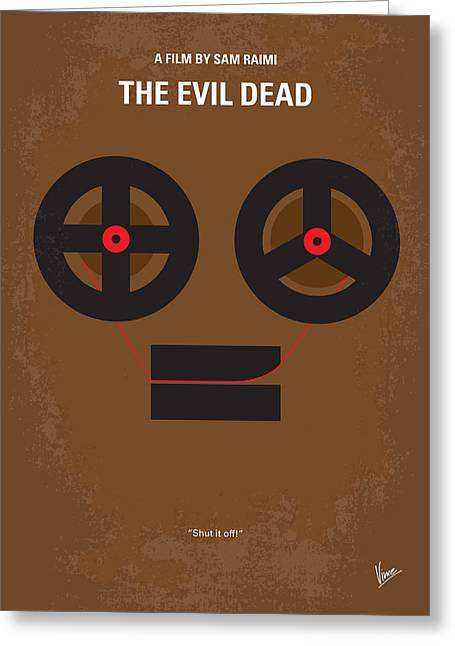 Evil Digital Greeting Cards - No380 My The Evil Dead minimal movie poster Greeting Card by Chungkong Art