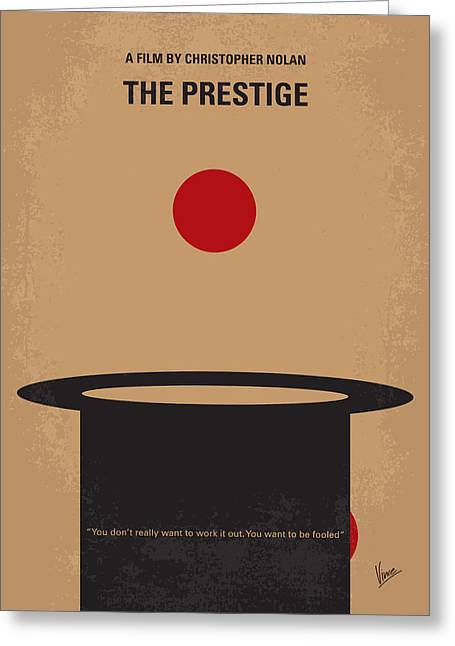 Illusion Greeting Cards - No381 My The Prestige minimal movie poster Greeting Card by Chungkong Art