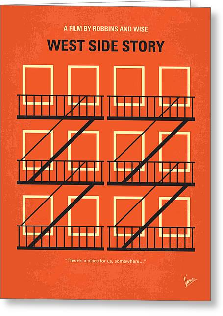 Nyc Posters Greeting Cards - No384 My West Side Story minimal movie poster Greeting Card by Chungkong Art
