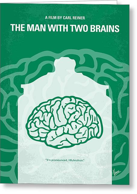 Benedict Greeting Cards - No390 My The Man With Two Brains minimal movie poster Greeting Card by Chungkong Art