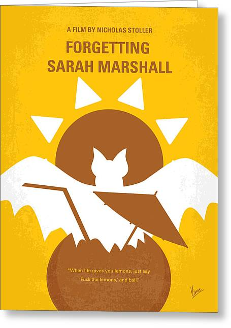 Marshall Greeting Cards - No393 My Forgetting Sarah Marshall minimal movie poster Greeting Card by Chungkong Art