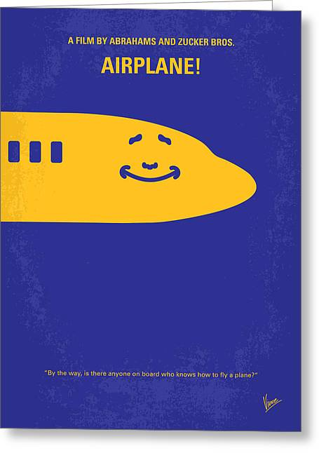 Airplane Greeting Cards - No395 My Airplane minimal movie poster Greeting Card by Chungkong Art