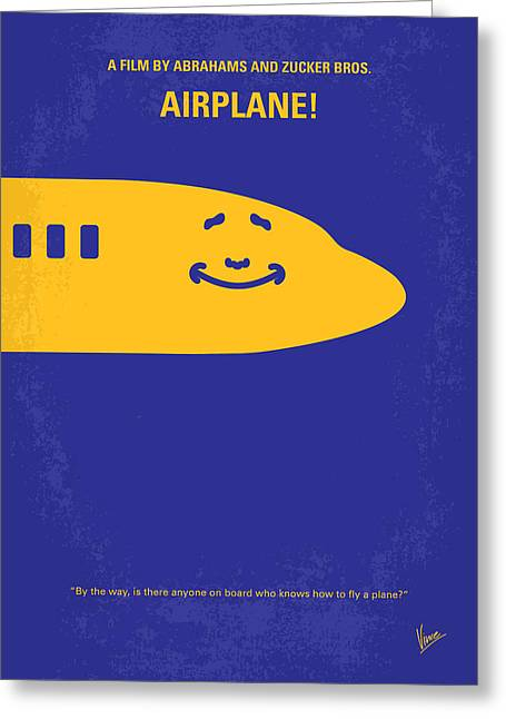 No392 My Airplane Minimal Movie Poster Greeting Card by Chungkong Art