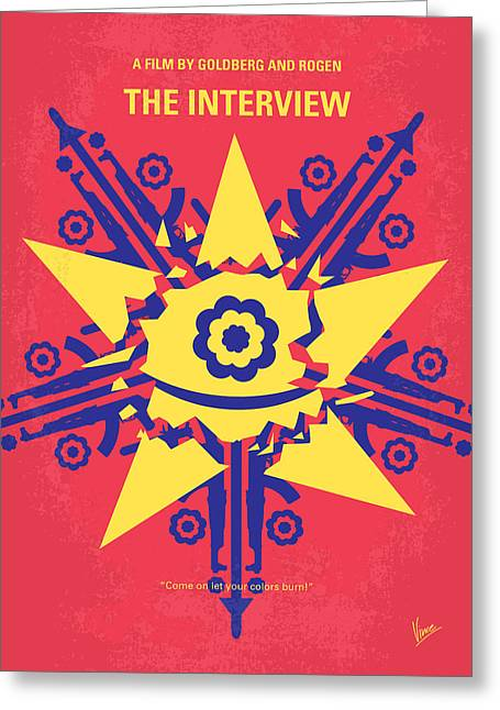 Interviewed Greeting Cards - No400 My The Interview minimal movie poster Greeting Card by Chungkong Art