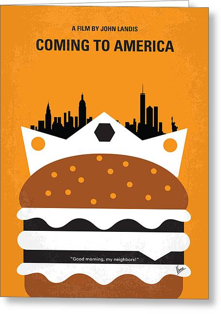 Murphy Greeting Cards - No402 My Coming to America minimal movie poster Greeting Card by Chungkong Art