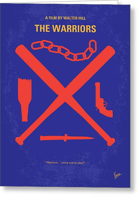 Nyc Posters Digital Art Greeting Cards - No403 My The Warriors minimal movie poster Greeting Card by Chungkong Art