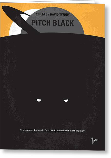 Chronicles Greeting Cards - No409 My Pitch Black minimal movie poster Greeting Card by Chungkong Art