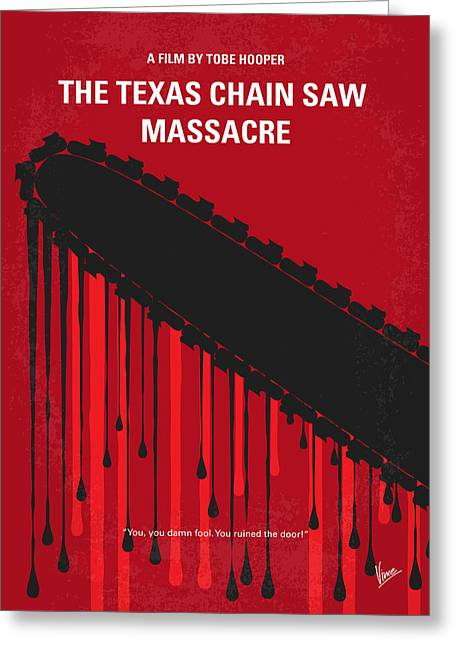 Evil Digital Greeting Cards - No410 My The Texas Chain Saw Massacre minimal movie poster Greeting Card by Chungkong Art