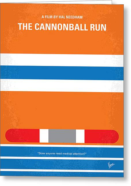 Baker Greeting Cards - No411 My The Cannonball Run minimal movie poster Greeting Card by Chungkong Art