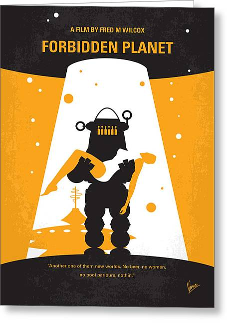 No415 My Forbidden Planet Minimal Movie Poster Greeting Card by Chungkong Art