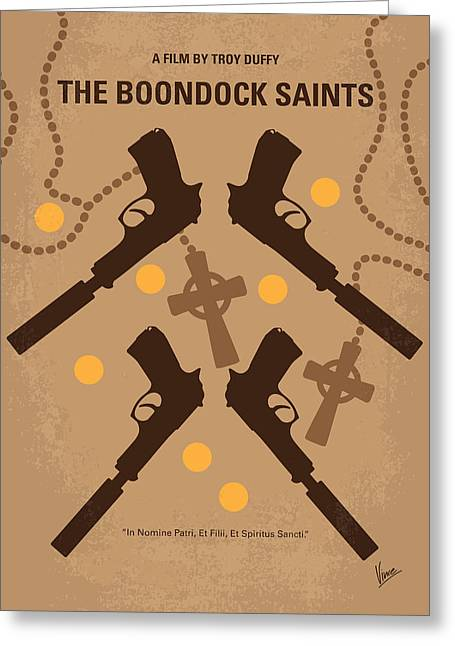 Evil Digital Greeting Cards - No419 My BOONDOCK SAINTS minimal movie poster Greeting Card by Chungkong Art