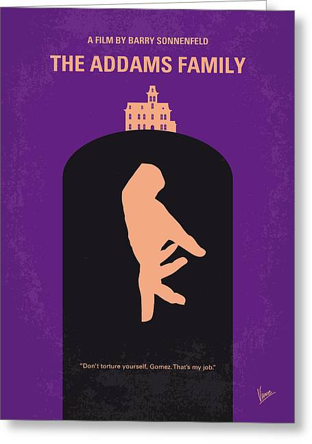 Classic Hollywood Greeting Cards - No423 My The Addams Family minimal movie poster Greeting Card by Chungkong Art