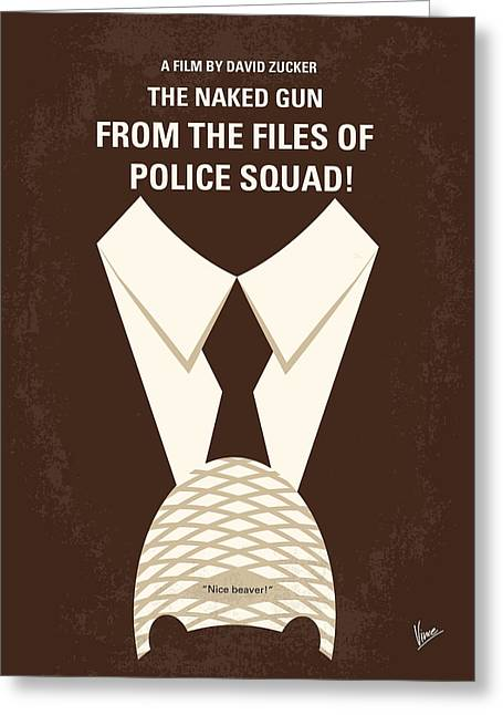 No432 My The Naked Gun Minimal Movie Poster Greeting Card by Chungkong Art
