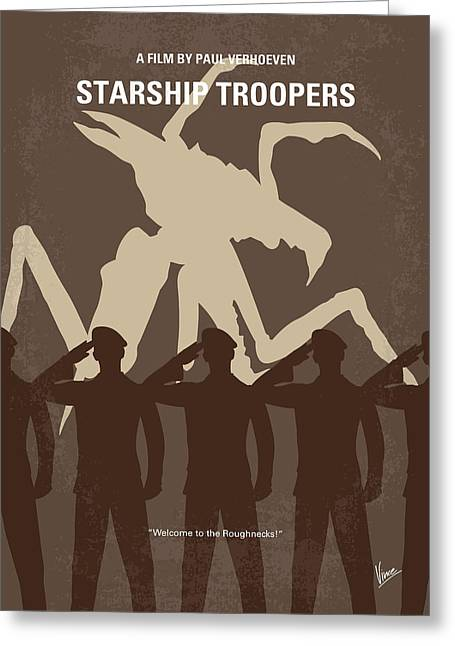 Buenos Aires Art Greeting Cards - No424 My Starship Troopers minimal movie poster Greeting Card by Chungkong Art