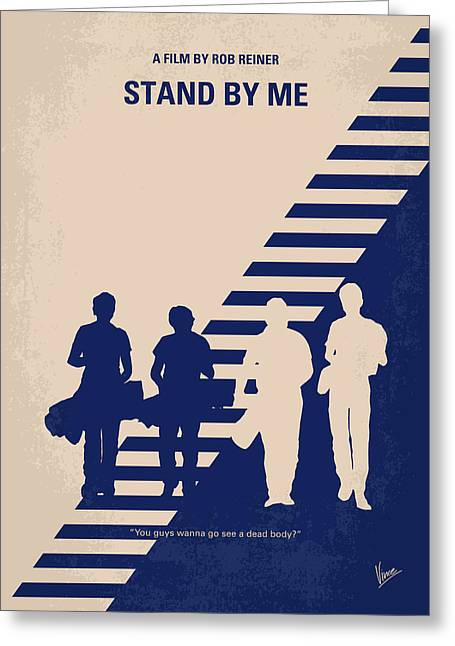 Stands Greeting Cards - No429 My Stand by me minimal movie poster Greeting Card by Chungkong Art